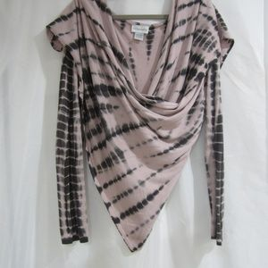 Soft Surroundings L Wrap Sweater Cascade Cardigan